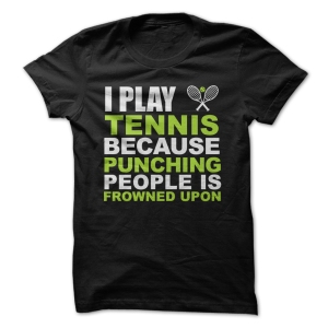 i play tennis because men black